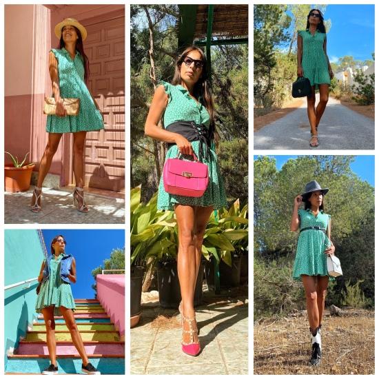Como combinar un vestido verde, 5 look