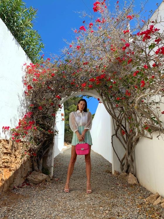 Look primavera falda tweed ibiza fashion blog